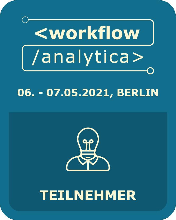 I am participant @ WorkflowAnalytica